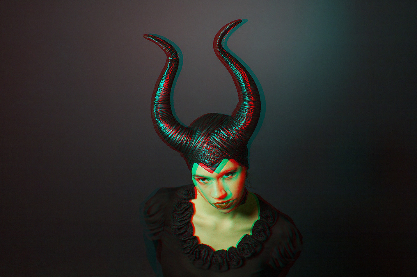 maleficent cosplay 3d sterography anaglyph